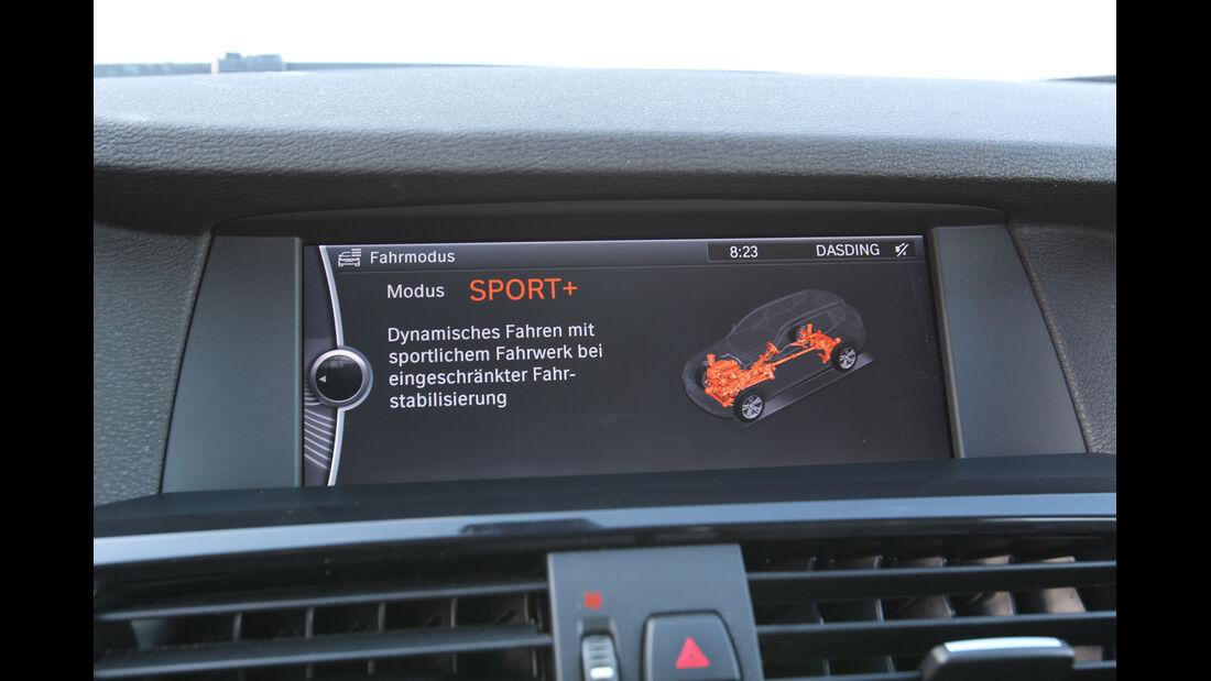 BMW X3 x-Drive 35d, Display, Anzeige