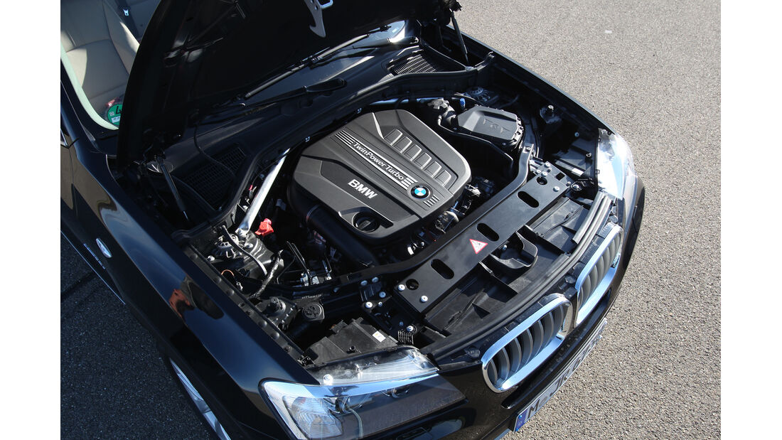 BMW X3 x-Drive 35d, Motor, Motorraum
