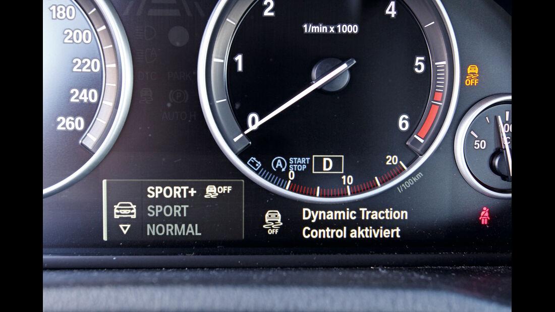 BMW X3 x-Drive 35d, Rundinstrumente, Instrumentenanzeige