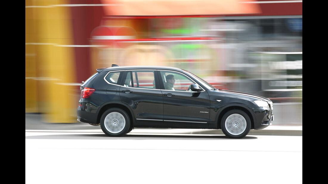 BMW X3 x-Drive 35d, Seitenansicht