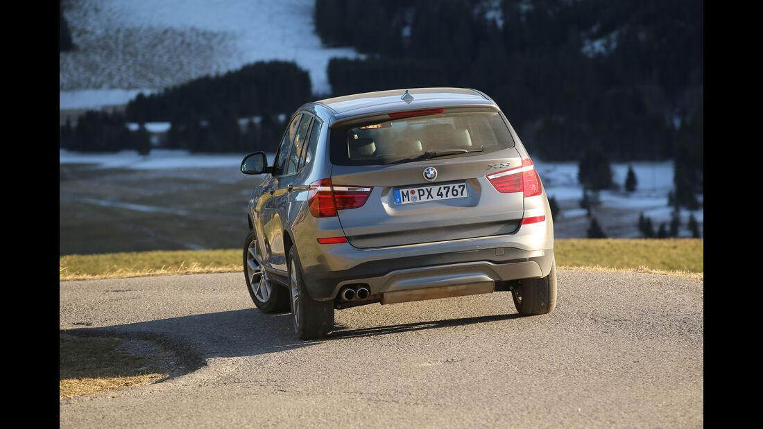 BMW X3 xDrive 28i, Heckansicht