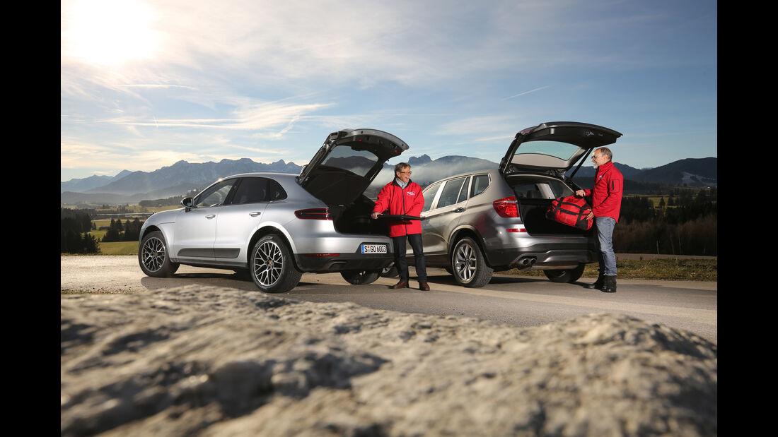 BMW X3 xDrive 28i, Porsche Macan, Heckklappe