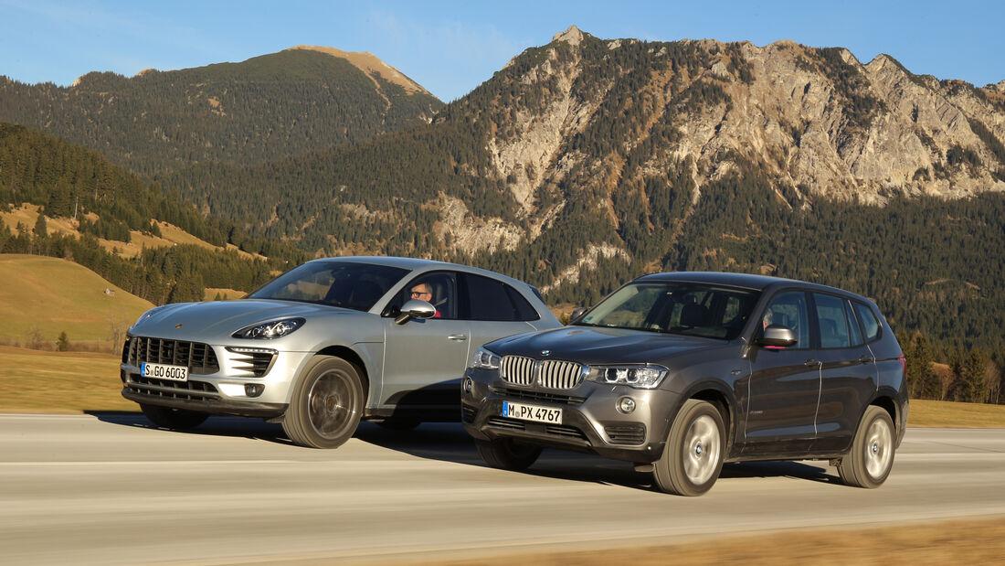 BMW X3 xDrive 28i, Porsche Macan, Seitenansicht