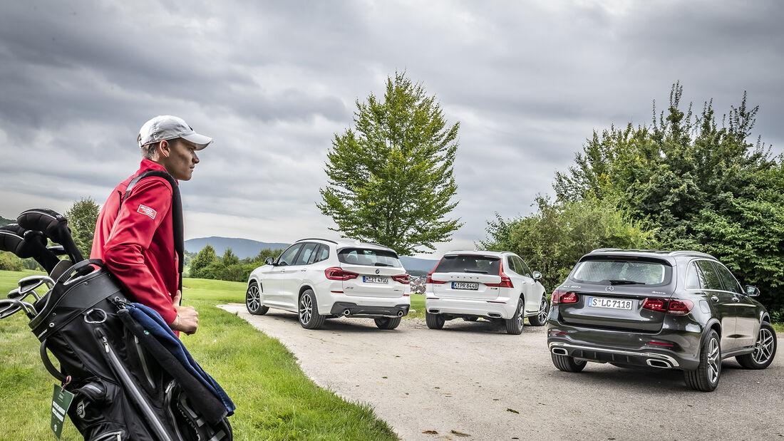 BMW X3 xDrive 30d, Mercedes GLC 300 d 4Matic, Volvo XC60 B5 AWD, Exterieur
