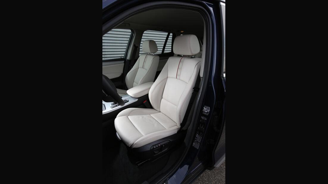 BMW X3 xDrive 35d, Fahrersitz