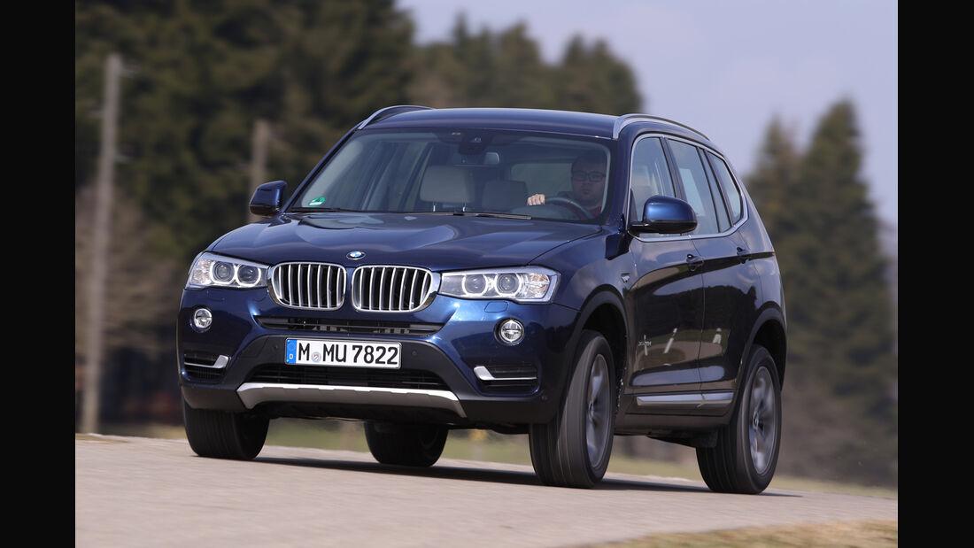 BMW X3 xDrive 35d, Frontansicht