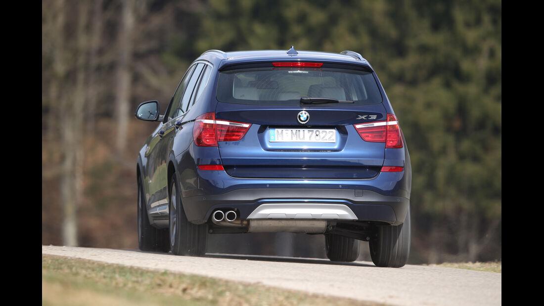 BMW X3 xDrive 35d, Heckansicht