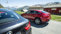 BMW X4, Mercedes GLC Coupé, Ausfahrt