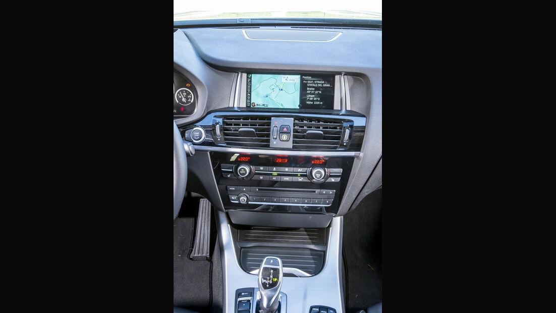 BMW X4, Mittelkonsole