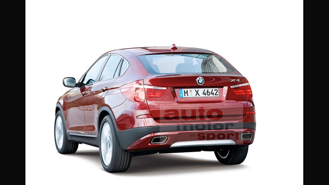 BMW X4 Retusche