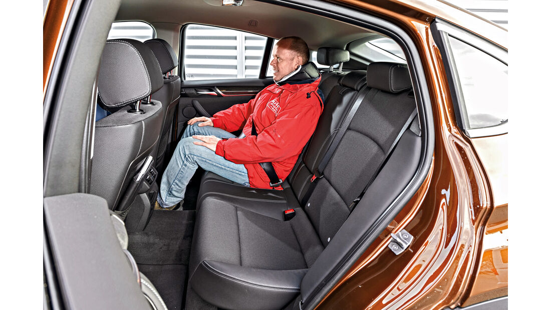 BMW X4 xDrive 28i, Fondsitze
