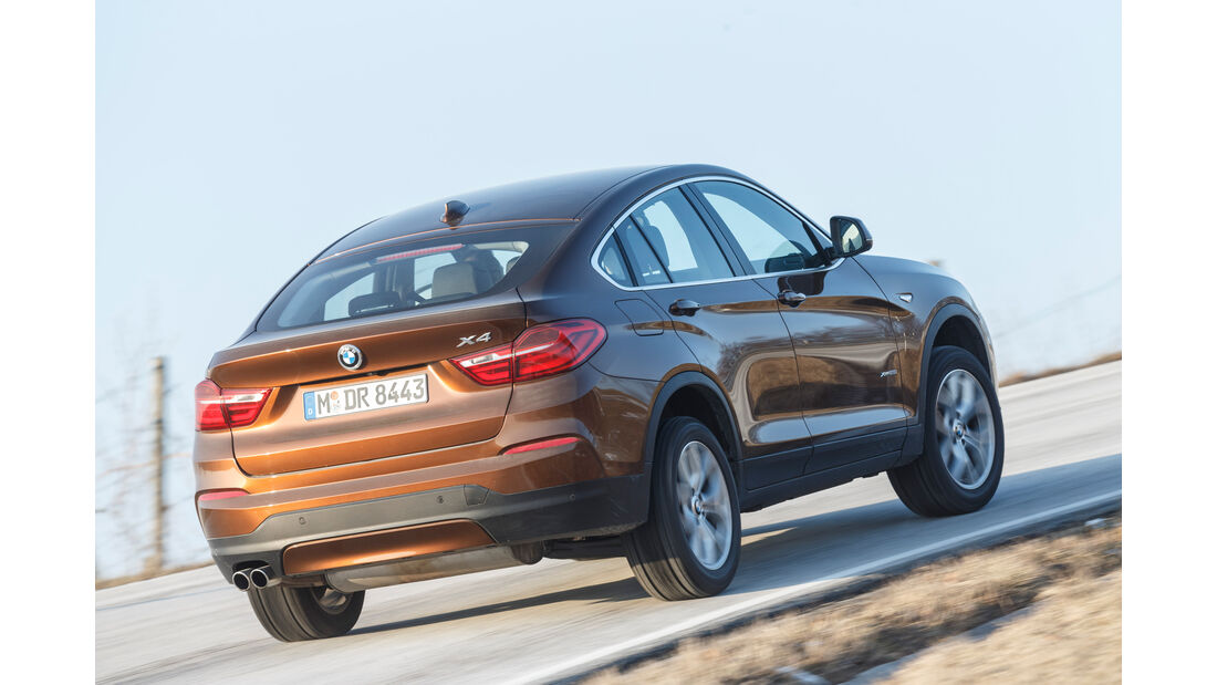 BMW X4 xDrive 28i, Heckansicht