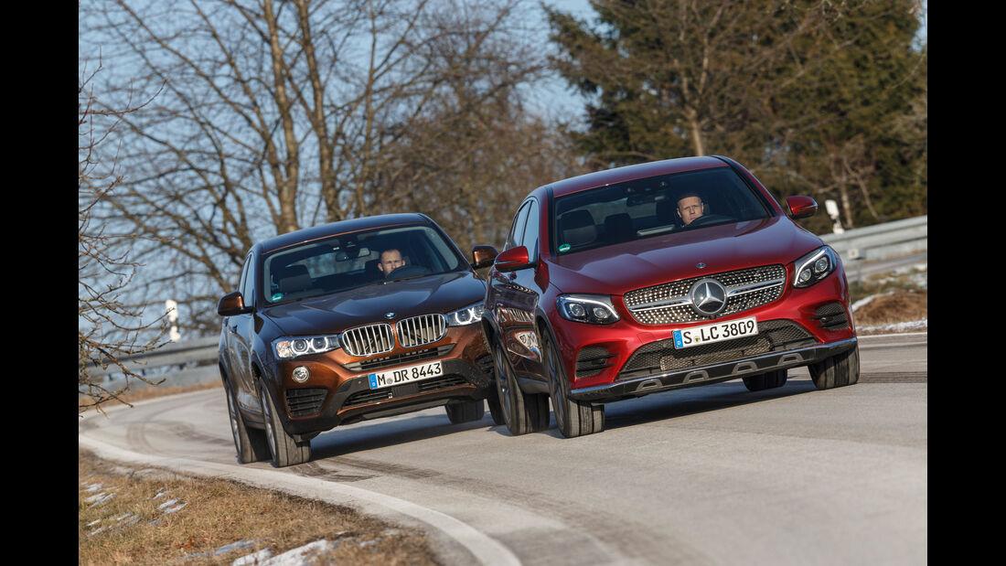 BMW X4 xDrive 28i, Mercedes GLC 300 4Matic Coupé,