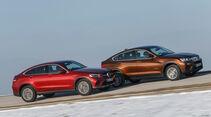 BMW X4 xDrive 28i, Mercedes GLC 300 4Matic Coupé, Seitenansicht