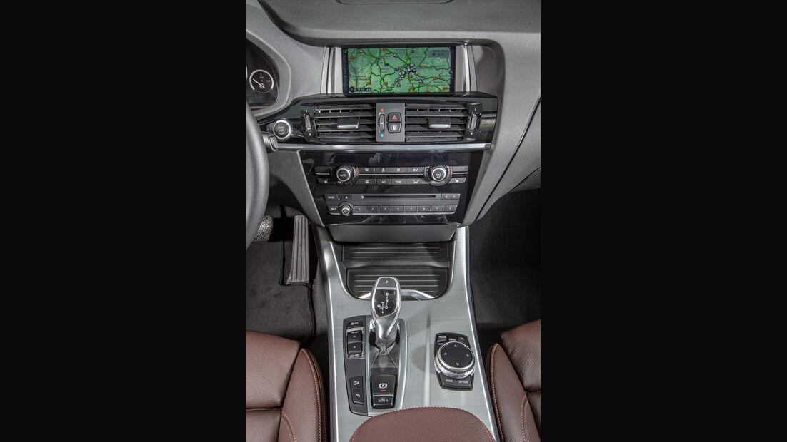 BMW X4 xDrive 35d, Mittelkonsole