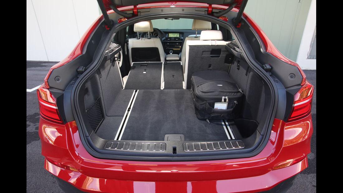 BMW X4 xDrive 35i, Ladefläche, Kofferraum