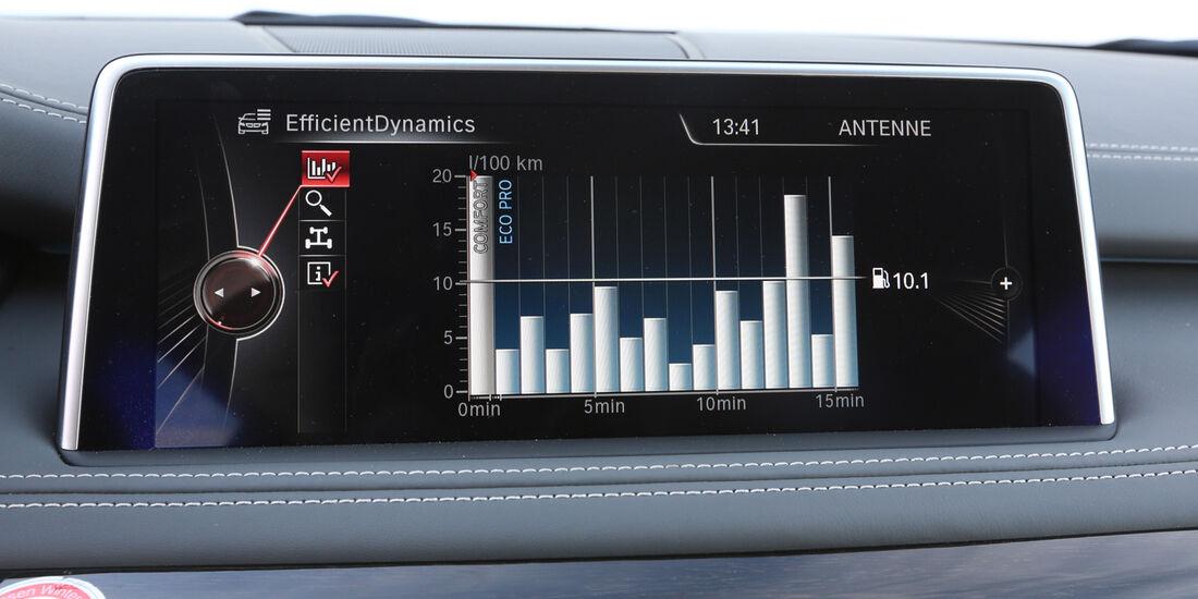 BMW X5 30d, Bildschirm, Anzeige