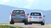 BMW X5 30d, Mercedes ML 350 Bluetec, Heckansicht
