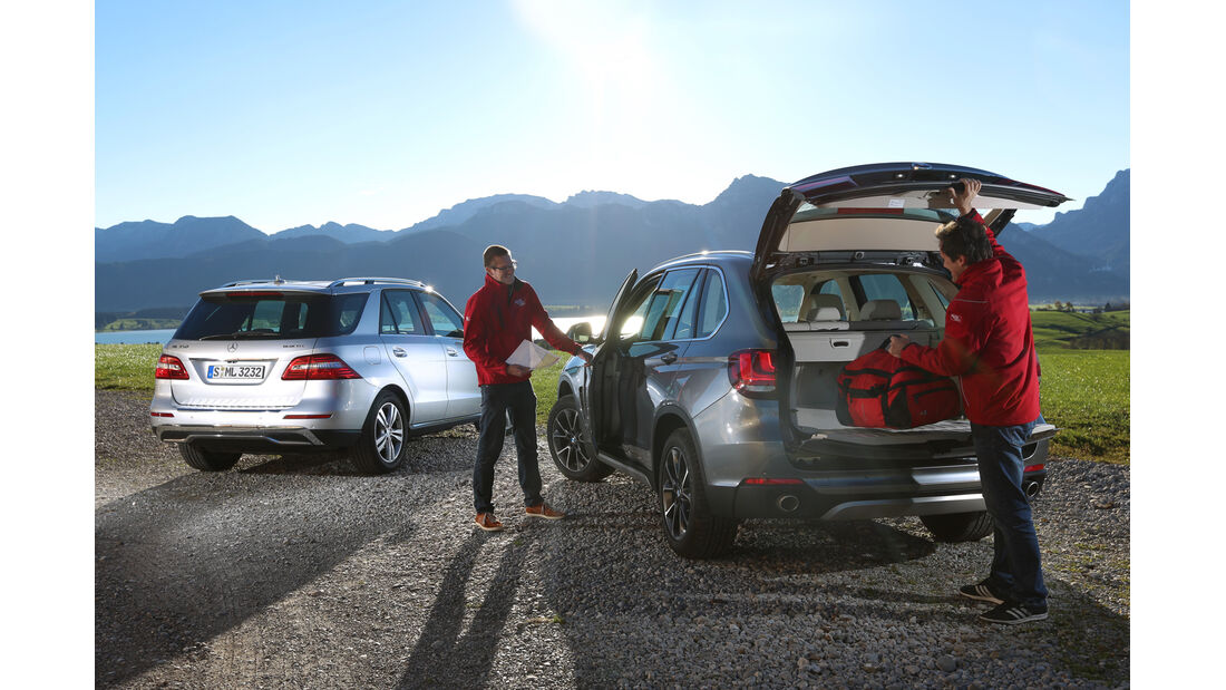 BMW X5 30d, Mercedes ML 350 Bluetec, Heckklappe