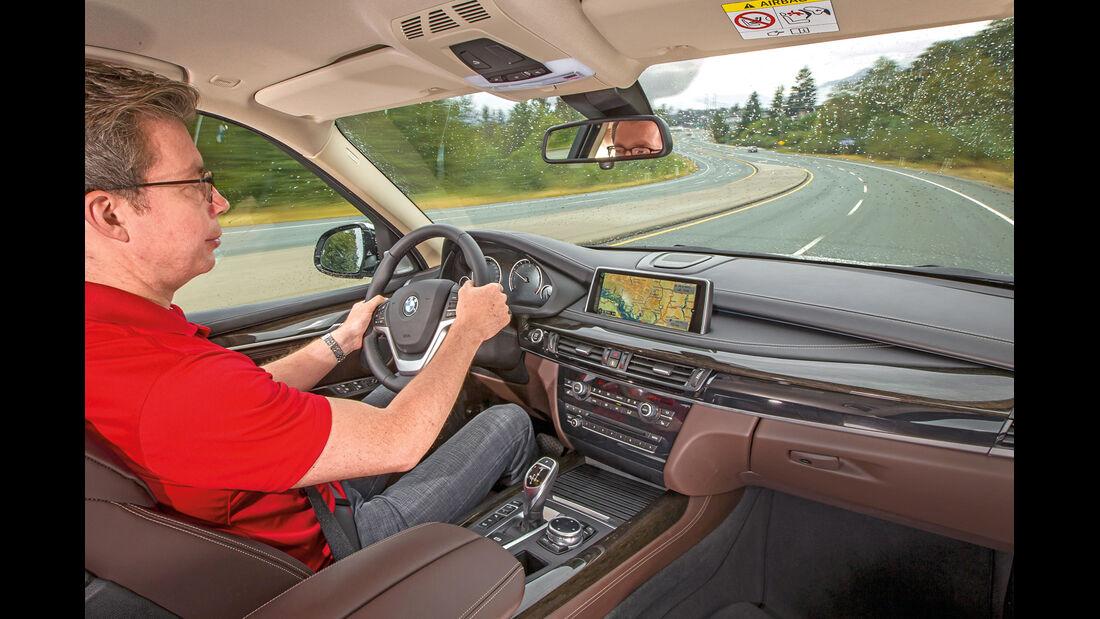 BMW X5, Cockpit, Fahrersicht