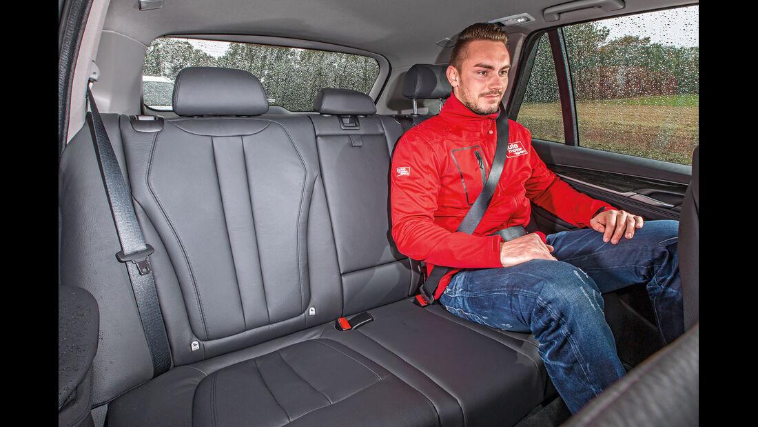 BMW X5, Fondsitz, Beinfreiheit