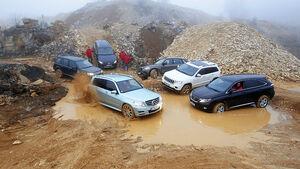 BMW X5, Jeep Grand Cherokee, Land Rover Freelander, Lexus RX, Mercedes GLK, VW Touareg Hybrid