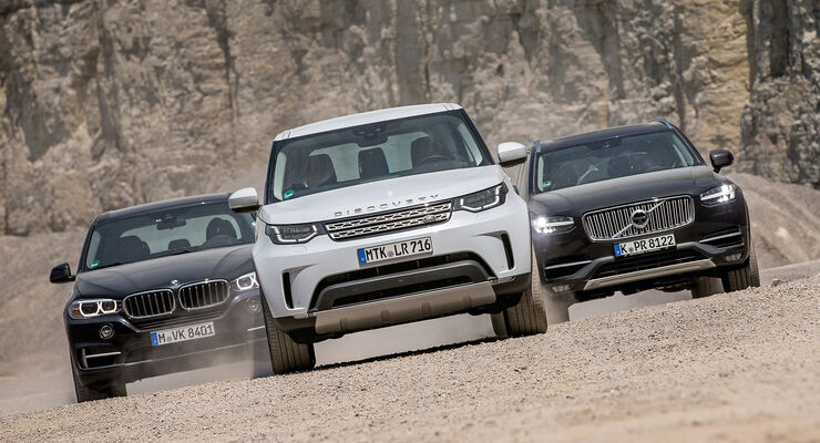 Bmw X5 Land Rover Discovery Und Volvo Xc90 Im Test Auto Motor Und
