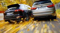 BMW X5 M, Porsche Cayenne Turbo S, Heckansicht