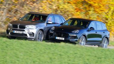BMW X5 M, Porsche Cayenne Turbo S, Seitenansicht