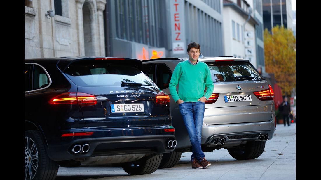 BMW X5 M, Porsche Cayenne Turbo S, Stefan Helmreich