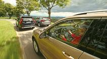 BMW X5, Volvo XC90, VW Touareg, Ausfahrt