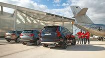 BMW X5, Volvo XC90, VW Touareg, Heckansicht