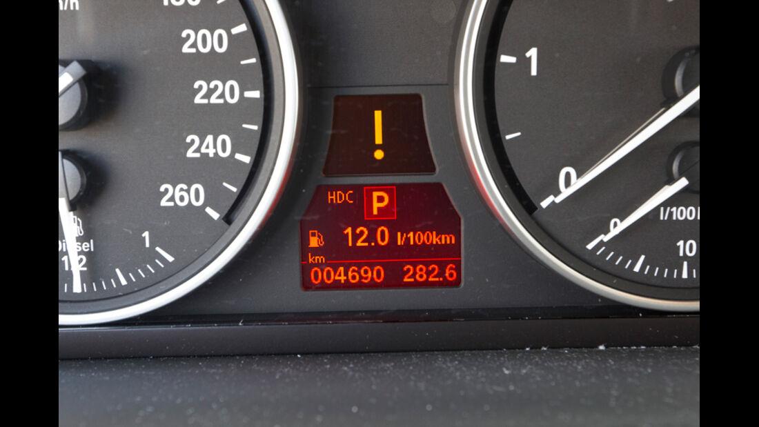 BMW X5 x-Drive 3.0d, Anzeige, Verbrauch