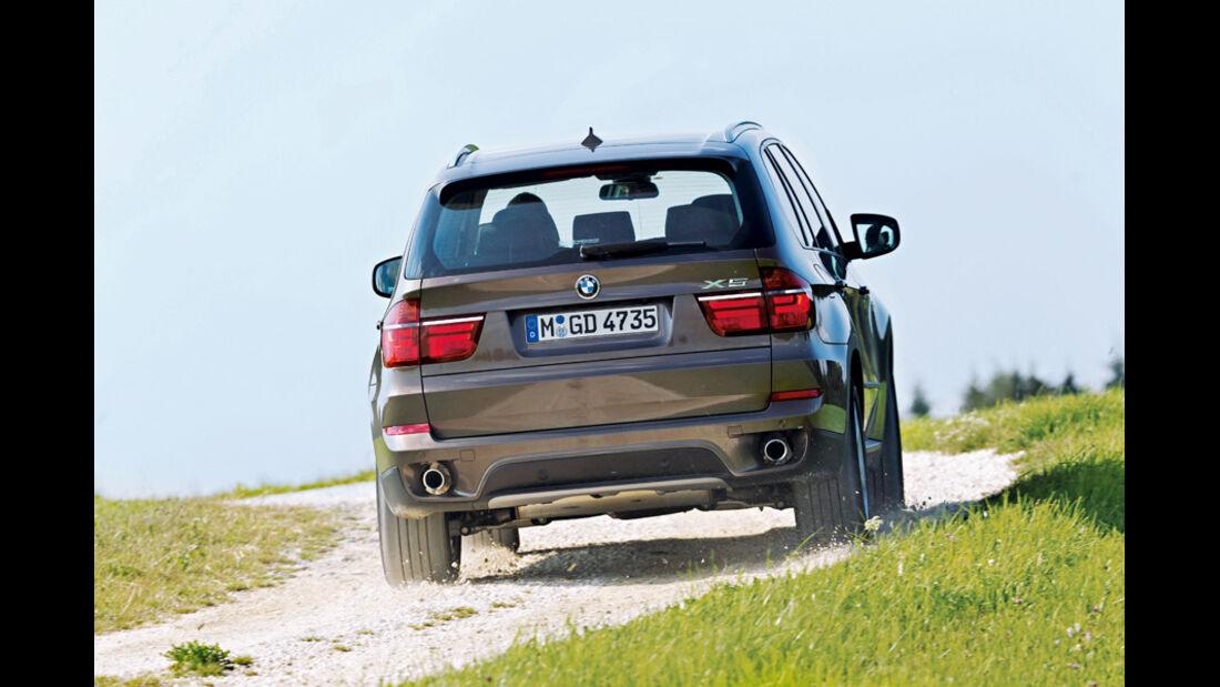 BMW X5 x-Drive 3.0d, Rückansicht, Heck