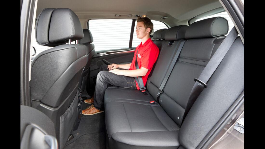 BMW X5 x-Drive 3.0d, Rücksitz, Rückbank