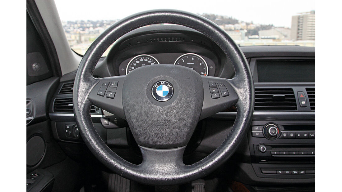 BMW X5, x-Drive 35d, Lenkrad