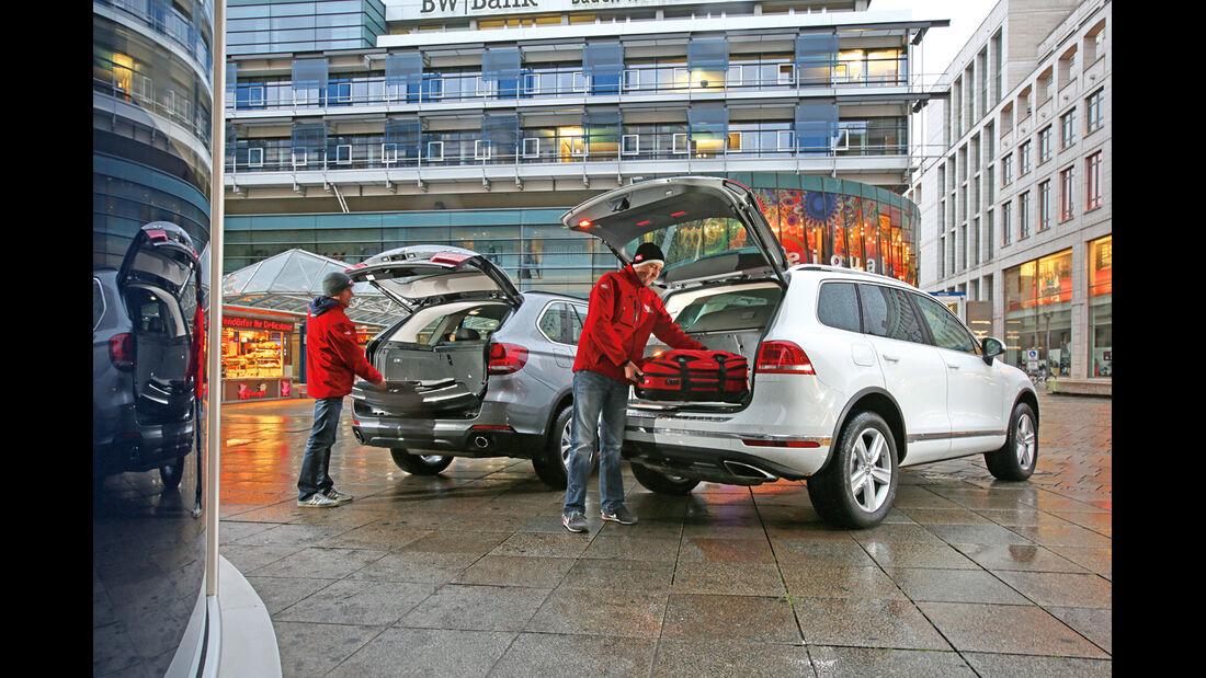 BMW X5 xDRIVE 3.0d, VW Touareg V6 TDI, Heckklappe