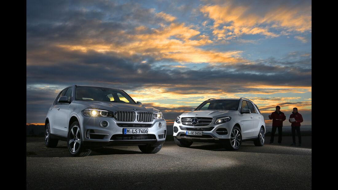 BMW X5 xDrive 40e, Mercedes GLE 500 e 4Matic