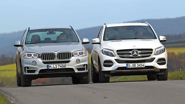 BMW X5 xDrive 40e, Mercedes GLE 500 e 4Matic