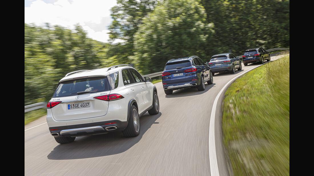 BMW X5 xDrive 40i, Mercedes GLE 450 4Matic, Porsche Cayenne, VW Touareg V6 TSI 4Motion, Exterieur