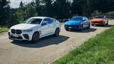 BMW X6 M, Lamborghini Urus, Porsche Cayenne Coupe, Exterieur