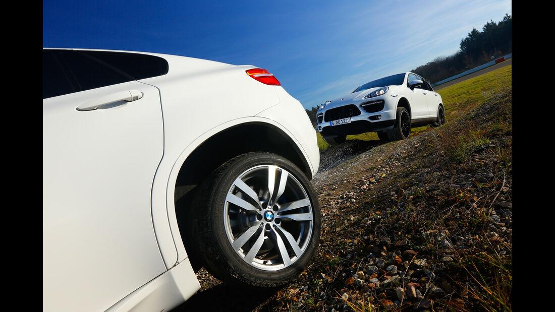BMW X6 M, Porsche Cayenne Turbo S, Gelände
