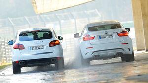 BMW X6 M, Porsche Cayenne Turbo S, Heckansicht