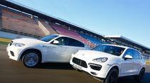 BMW X6 M, Porsche Cayenne Turbo S, Seitenansicht