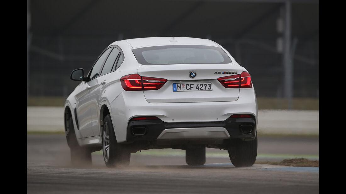 BMW X6 M50d, Heckansicht
