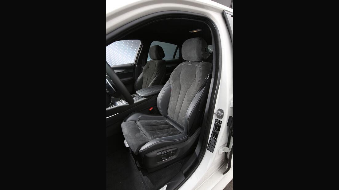 BMW X6 M50d, Sitze