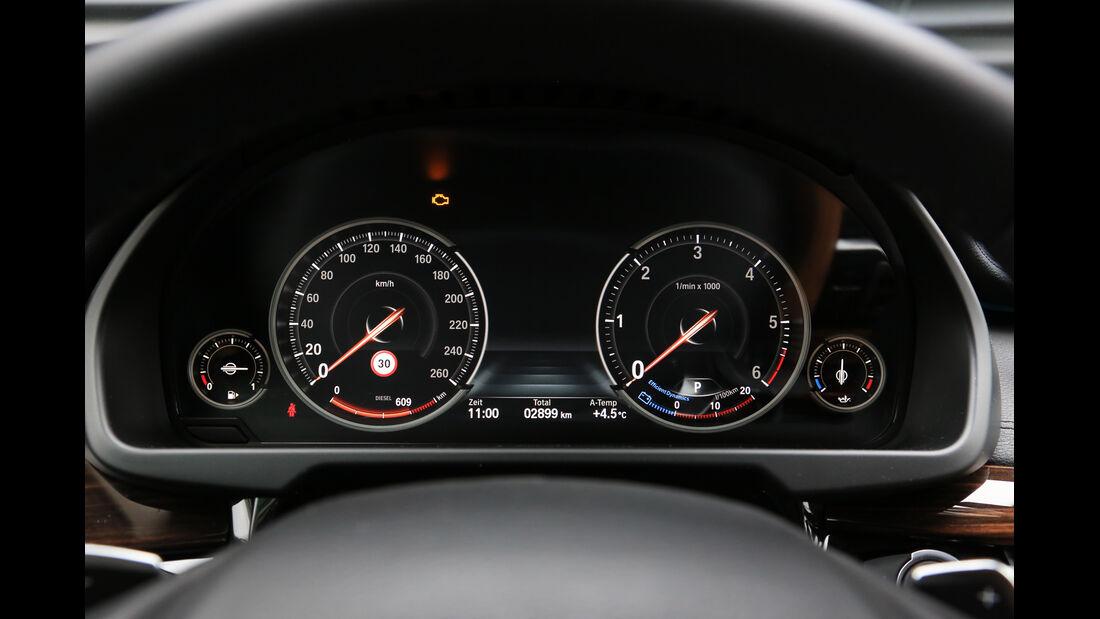 BMW X6 xDrive 30d, Rundinstrumente