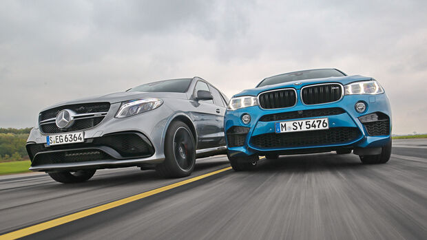 BMW X6M, Mercedes-AMG GLE 63 S, Frontansicht