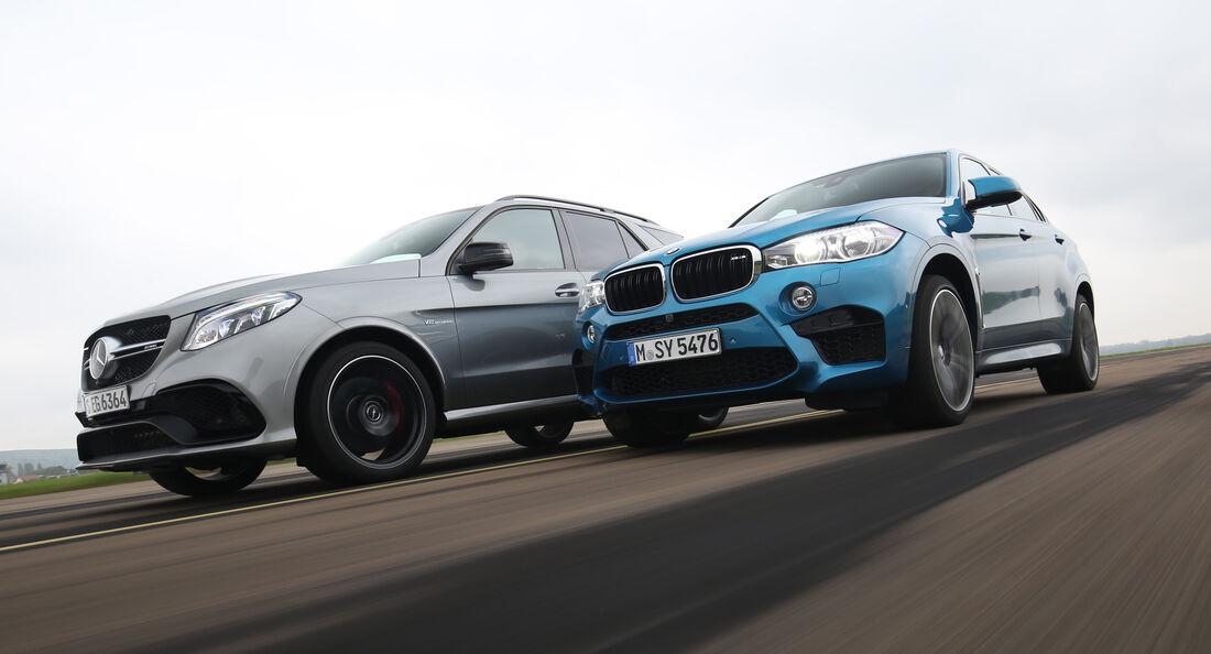 BMW X6M, Mercedes-AMG GLE 63 S, Seitenansicht