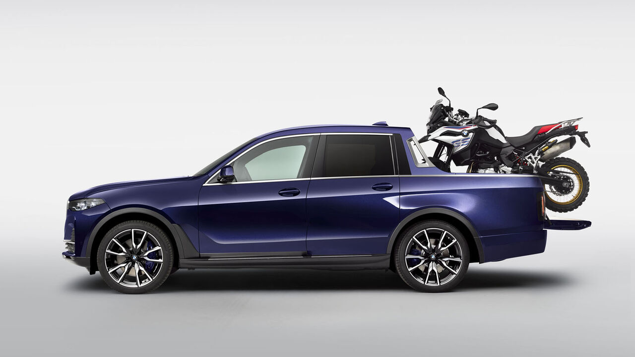 Bmw X7 Pickup Studie Azubis Bauen Luxus Suv Mit Pritsche Auto Motor Und Sport